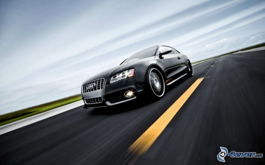 Audi S5, camino, acelerar