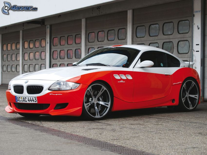 BMW, garaje