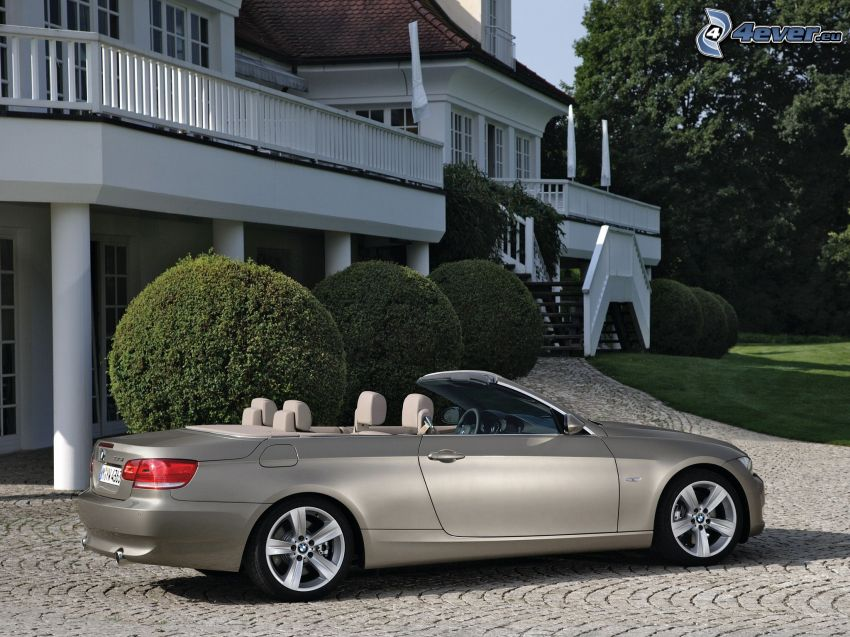 BMW 3, descapotable, villa