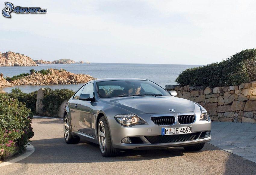 BMW 6 Coupé, camino, mar