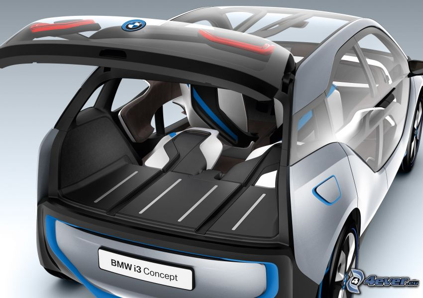 BMW i3 Concept, portaequipajes
