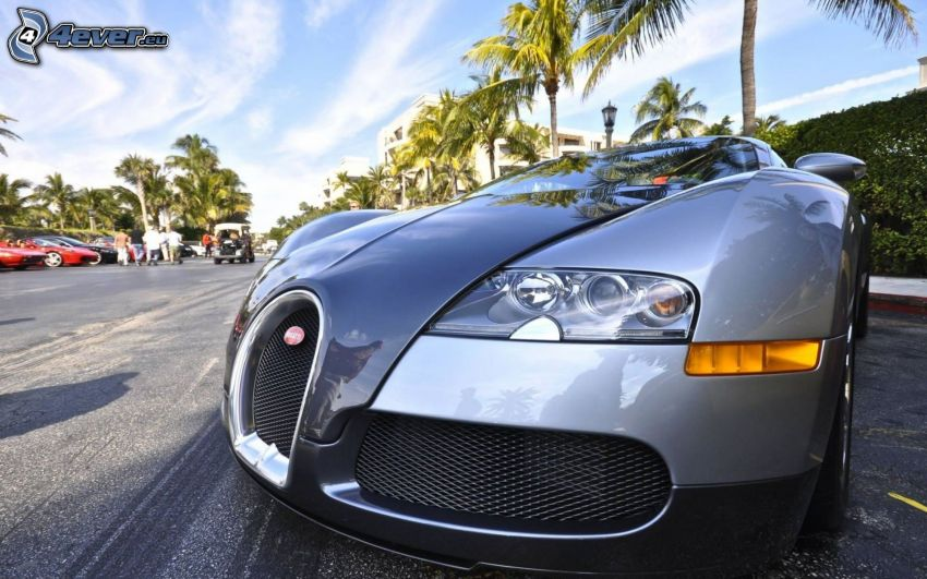 Bugatti Veyron, delantera de coche, HDR