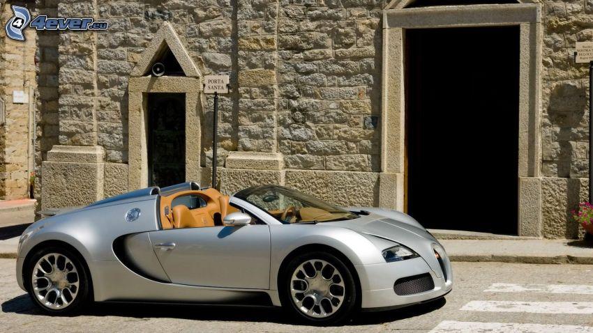 Bugatti Veyron, descapotable, edificio