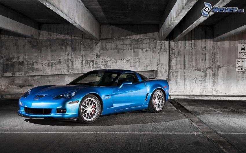 Chevrolet Corvette, bajo el puente