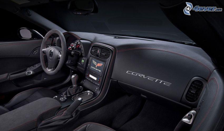 Chevrolet Corvette, interior, volante, cuadro de mandos - salpicadero