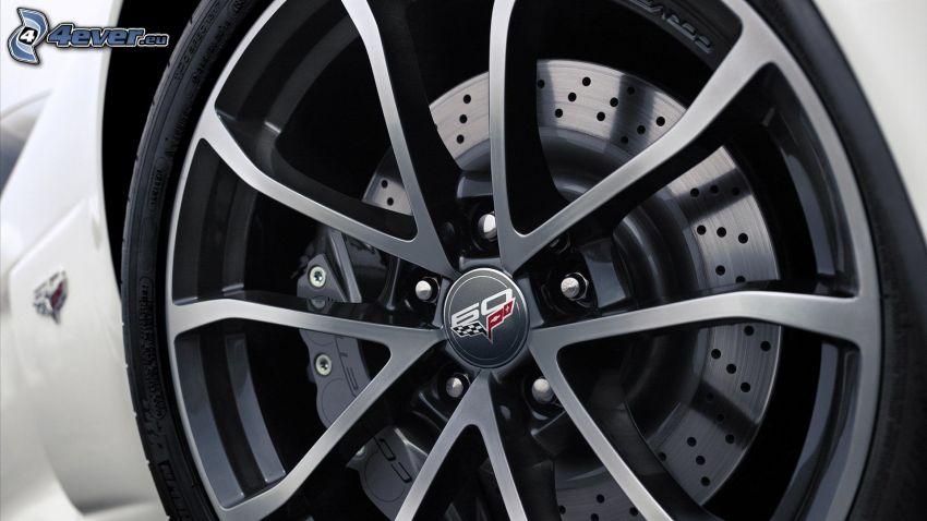 Chevrolet Corvette, rueda, disco, freno