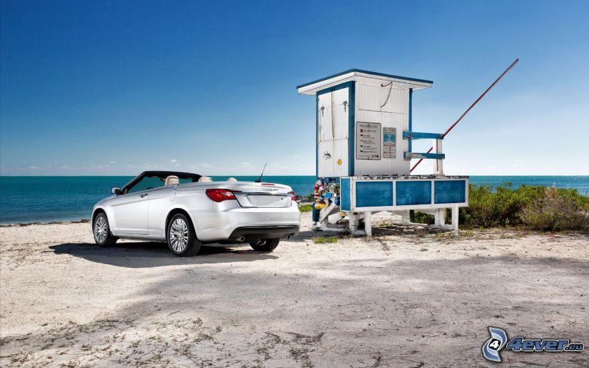 Chrysler 200 Convertible, descapotable, playa, mar
