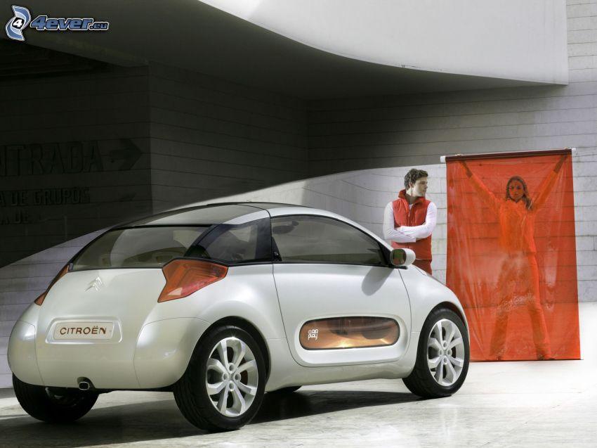 Citroën, concepto, hombre, mujer