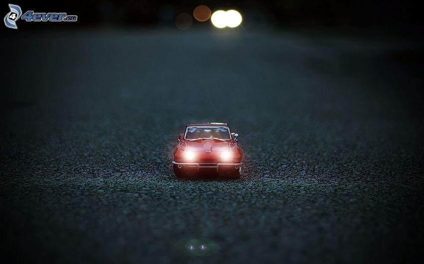 coche, juguete, luces
