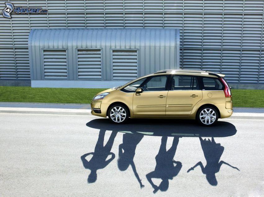coche, sombra
