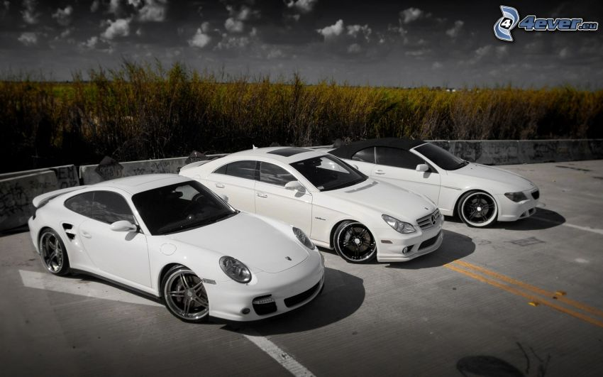 coches, Porsche 911, Mercedes, BMW, descapotable