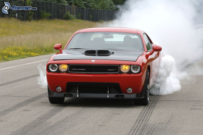 Dodge Challenger SRT 10, burnout