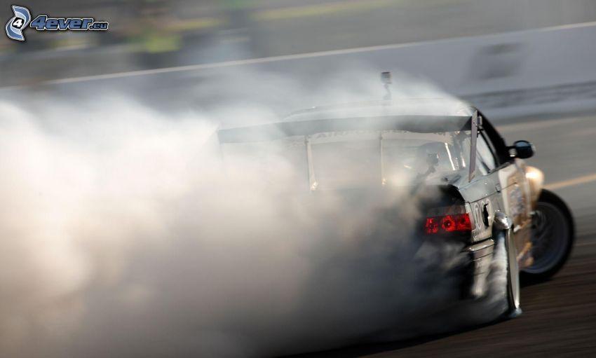 drift, humo, coche de carreras