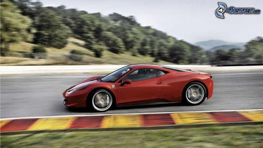 Ferrari 458 Italia, acelerar, carreras en circuito