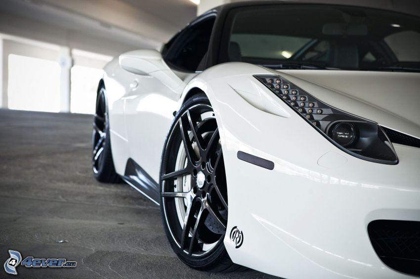Ferrari 458 Italia, ruedas, faro delantero