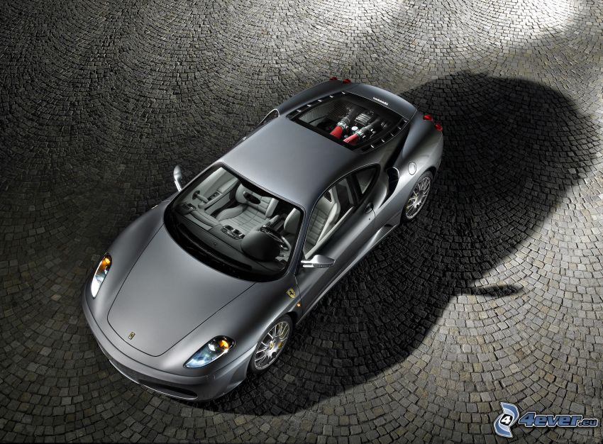 Ferrari F430, gris, pavimento