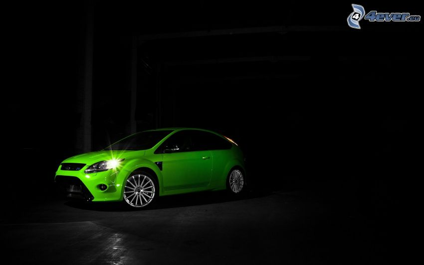 Ford Focus RS, luz, oscuridad