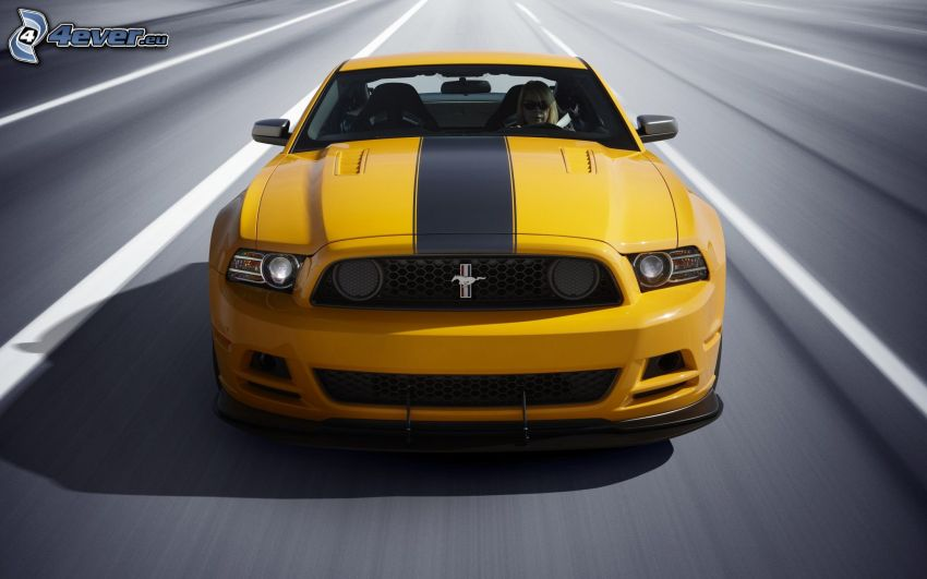 Ford Mustang Boss 302, acelerar