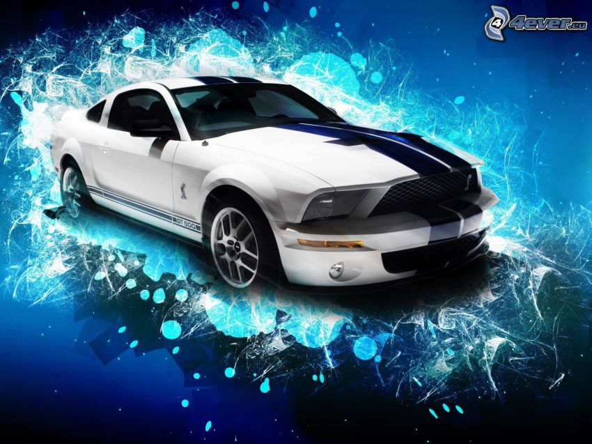 Ford Mustang Shelby Cobra, abstracto
