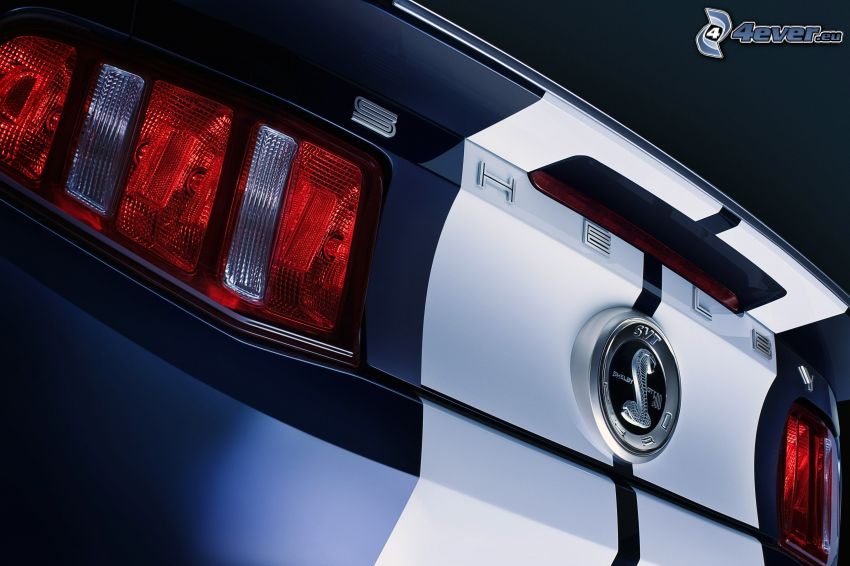 Ford Mustang Shelby GT500, luz trasera, logo