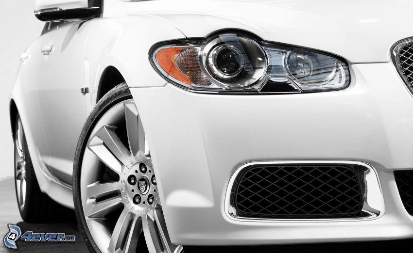 Jaguar XFR, faro delantero, ruedas