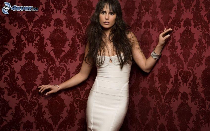 Jordana Brewster, vestido blanco
