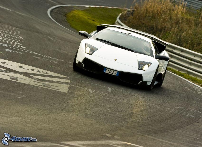Lamborghini Murciélago, curva, camino