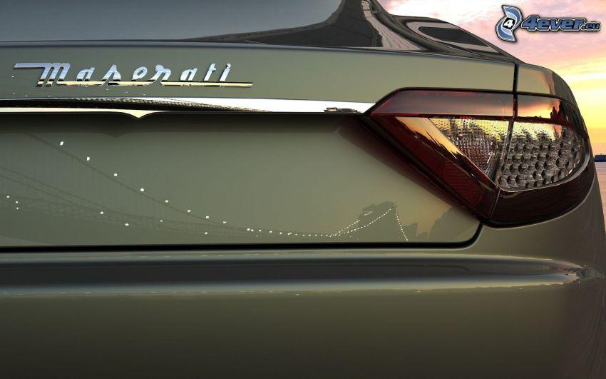 Maserati, luz trasera