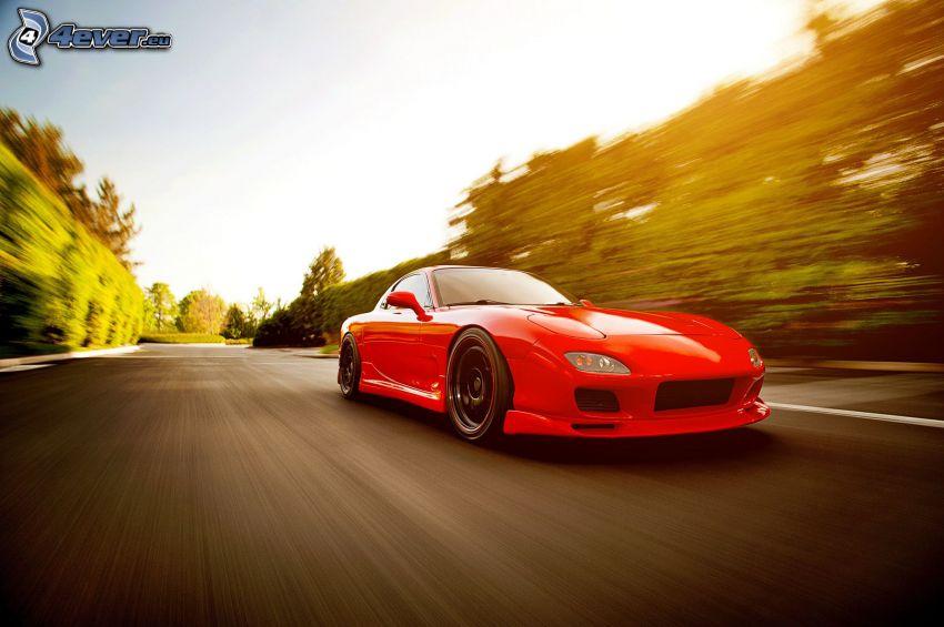 Mazda RX7, acelerar