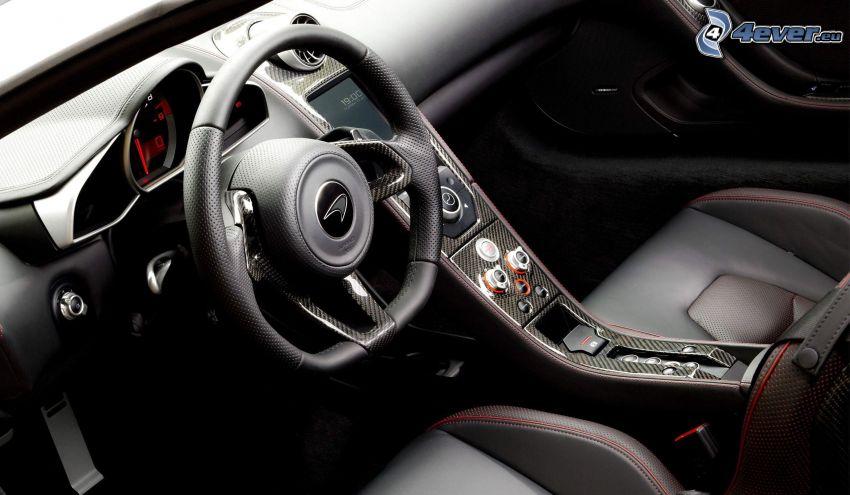 McLaren MP4-12C, interior, volante