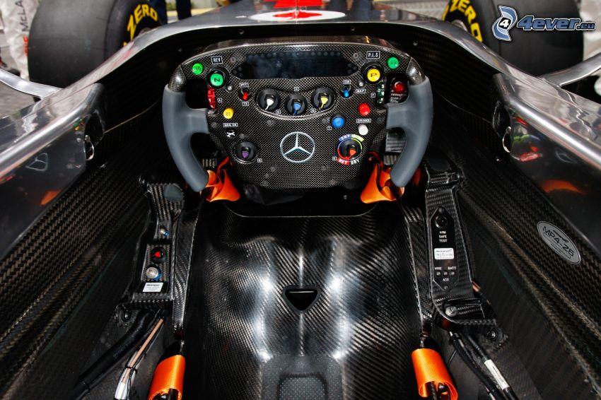 McLaren MP4-12C Spider, fórmula, interior