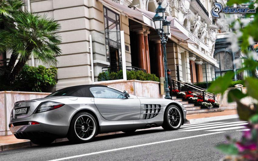Mercedes, edificio, escalera