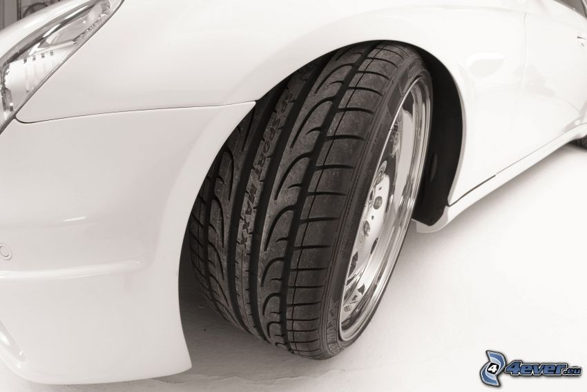 Mercedes-Benz, rueda, neumático