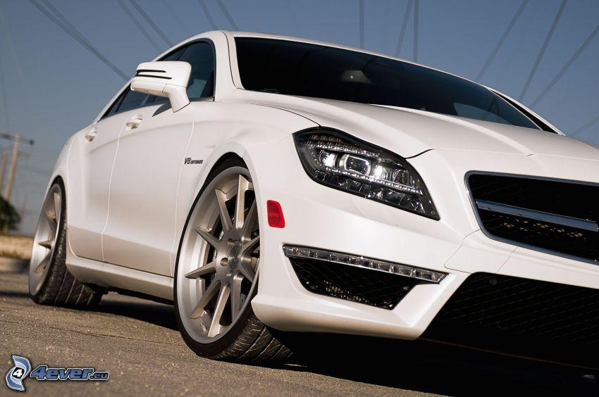 Mercedes-Benz CLS, faro delantero, ruedas