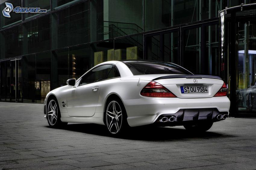 Mercedes-Benz SL63 AMG, pavimento, edificio