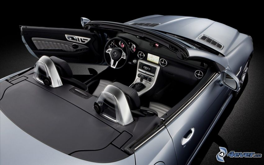 Mercedes-Benz SLK, descapotable, interior