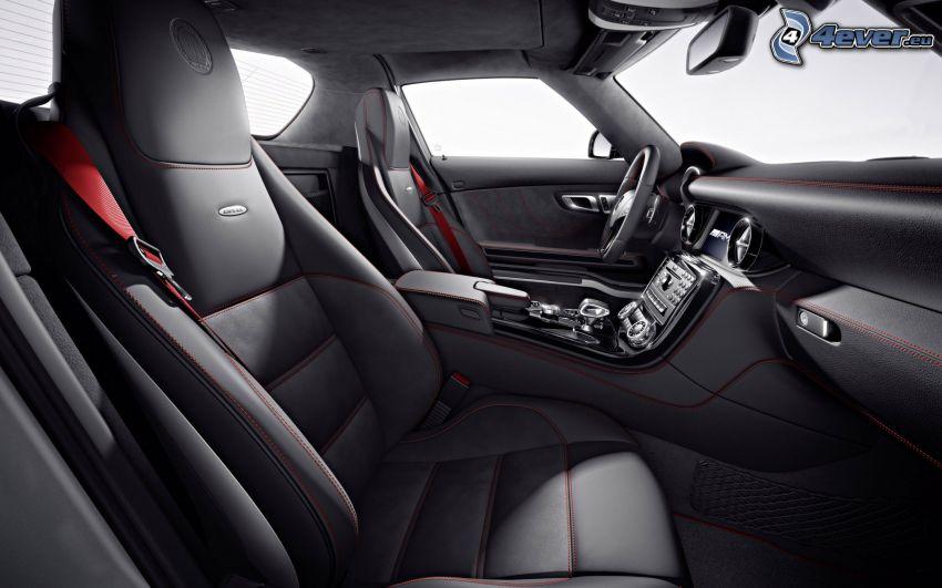 Mercedes-Benz SLS AMG, interior, asiento, volante
