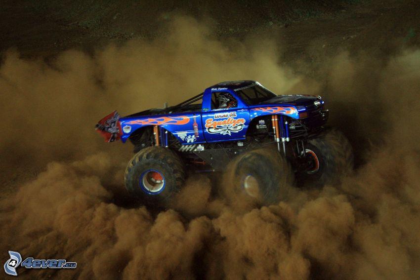 monster truck, polvo