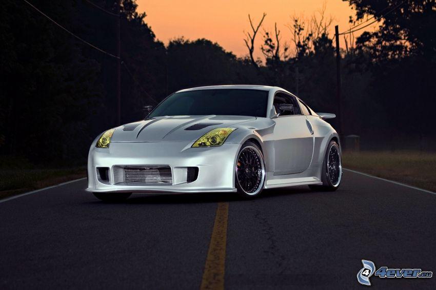 Nissan 350Z, camino, cromo