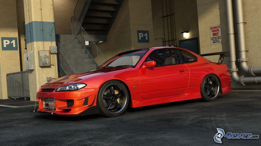 Nissan Silvia, escalera