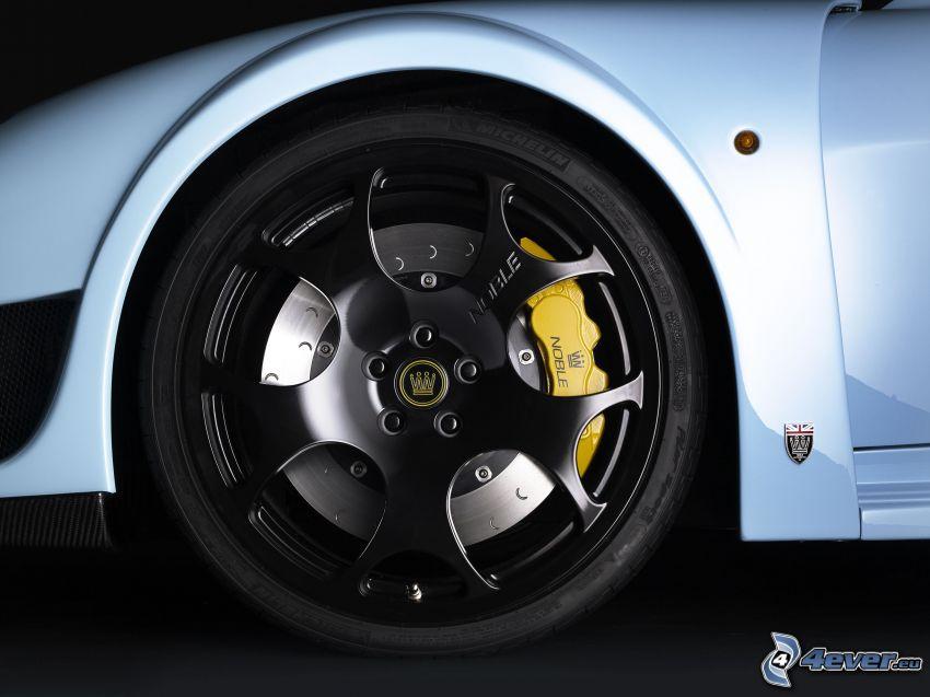 Noble M600, rueda, disco, freno