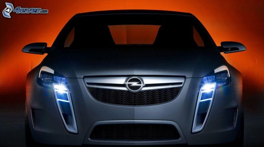 Opel, delantera de coche