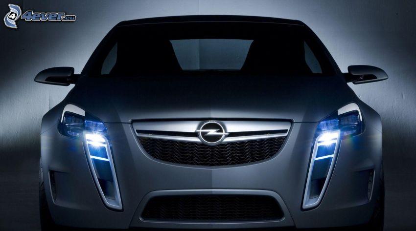 Opel, luces, delantera de coche, concepto