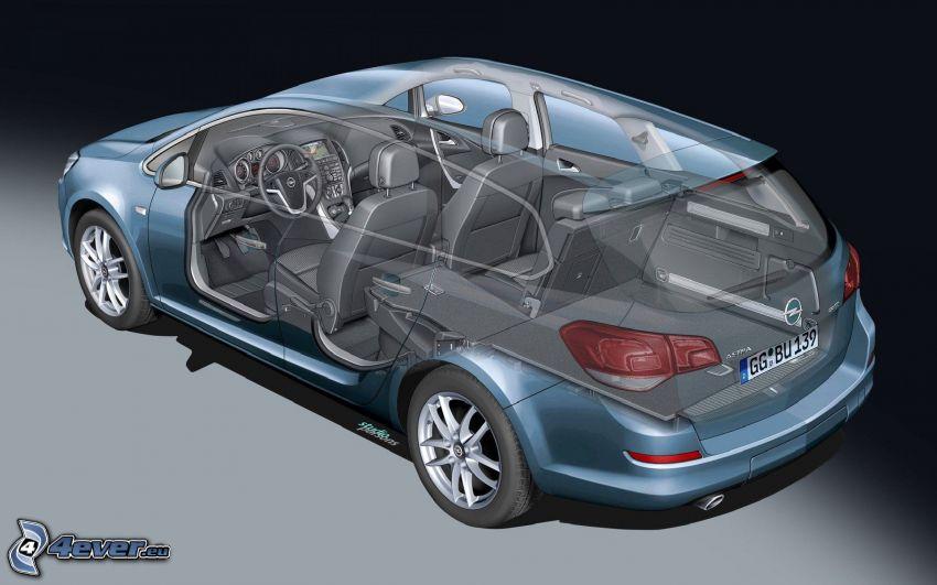 Opel Astra, interior