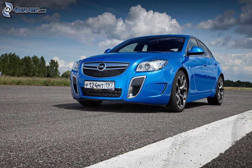 Opel Insignia OPC, camino, nubes