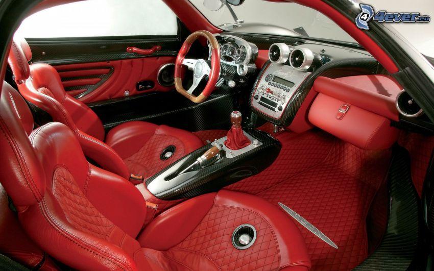 Pagani Zonda, interior, asiento, volante, cuadro de mandos - salpicadero