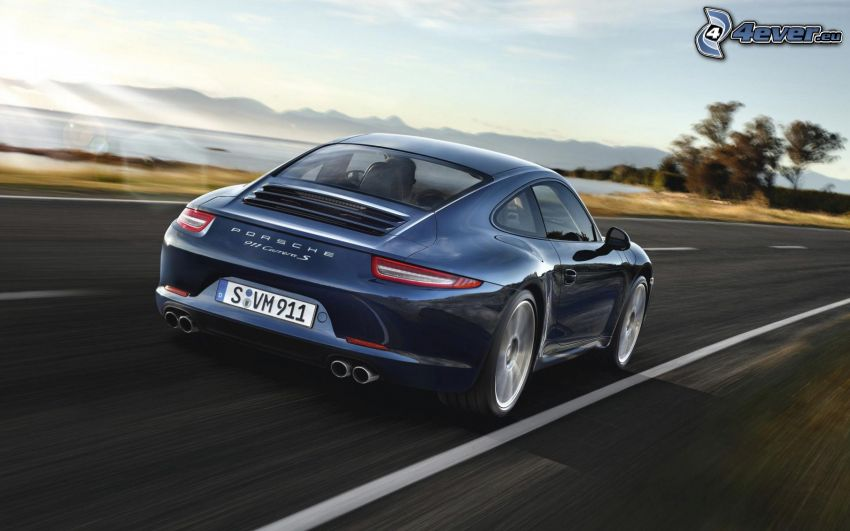 Porsche 911 Carrera, acelerar, camino