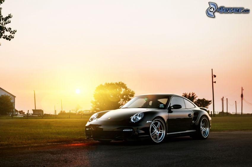 Porsche 997 GT3, puesta del sol