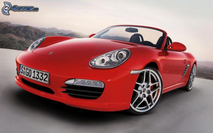 Porsche Boxster, descapotable, delantera de coche