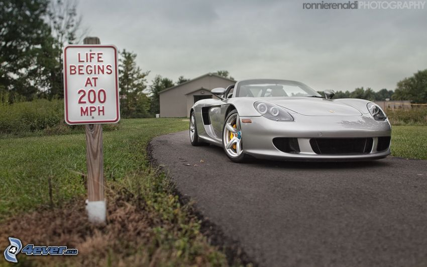 Porsche Carrera GT, descapotable, señal